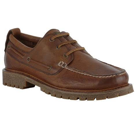 polo ralph regan leather deck shoe in brown for