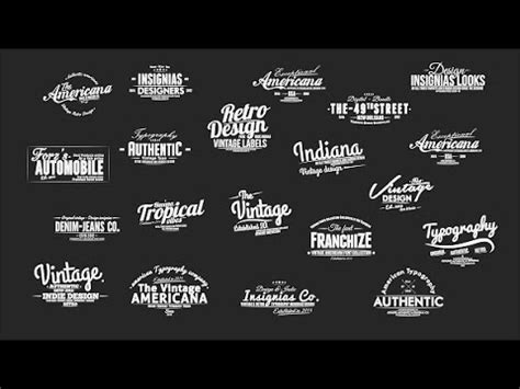 typography logo maker vintage typography pack slideshow creator text presets by xfxdesigns after effects template