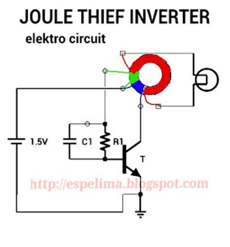 membuat power bank joule thief membuat joule thief inverter 1 5v to 220v ac light