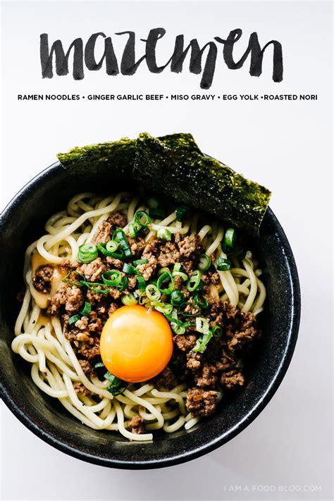 mazemen ramen noodles  sesame ginger garlic beef