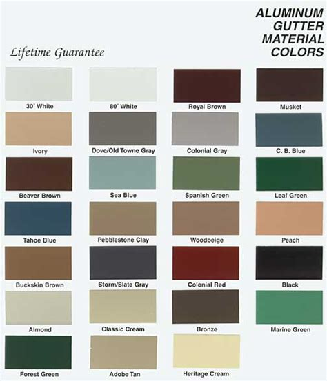 gutter colors aluminum gutters