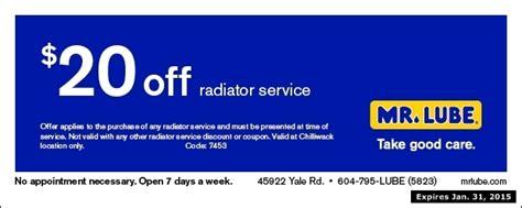 radiator service     lube auto repair coupons chilliwack bc couponsbcca