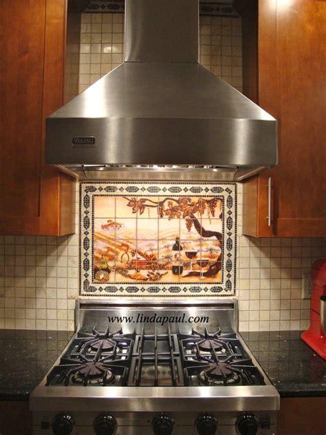 hand made the vineyard kitchen backsplash tile mural by kitchen backsplash tile murals by linda paul studio by