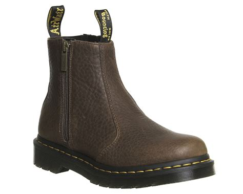womens dr martens 2976 zip chelsea boots brown