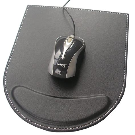 Mouse Pad leather mouse pad mice mat gaming with wrist comfort rest computer desk stationery