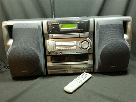 cassette and cd player aiwa cd cassette am fm boombox stereo receiver ca dw635u