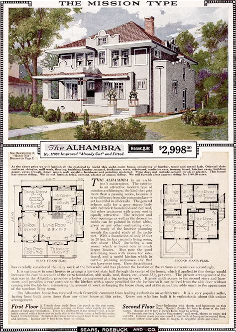 Craftsman Style Built In Bookcases 1923 Sears Kit Homes Alhambra Mission Eclectic