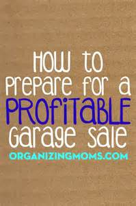 how to prepare for a profitable garage sale organizing