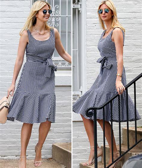 Gingham Black Lara Dress ivanka style goes gingham with