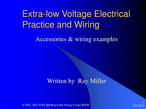 low voltage electrical wiring ppt low voltage electrical practice and wiring