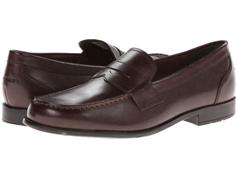 rockport loafer rockport classic loafer lite coach brown zappos