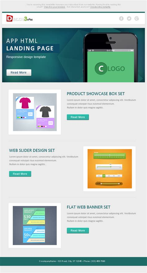 Flat Email Template Design Psd Design3edge Com Email Templates For Web Designers And Developers