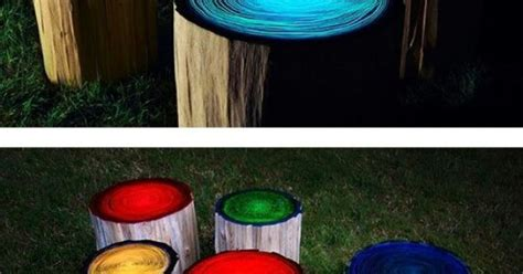 glow in the painted logs paint glow in the paint on tree stumps for
