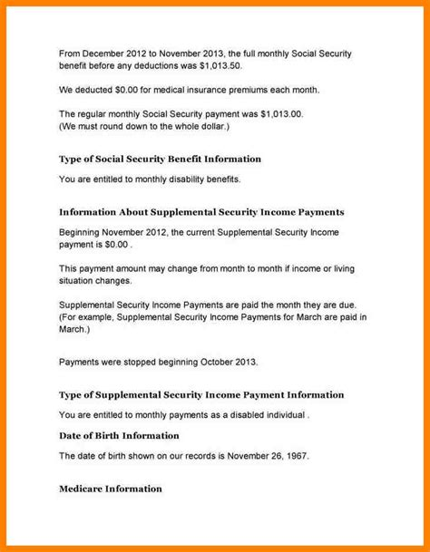 Letter Of Credit Benefits 10 Social Security Benefit Verification Letter Cio Resumed