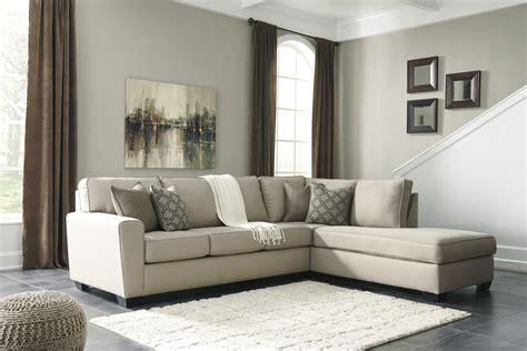 Calicho Charcoal Sectional by Ashley 91202 17 wide tapered