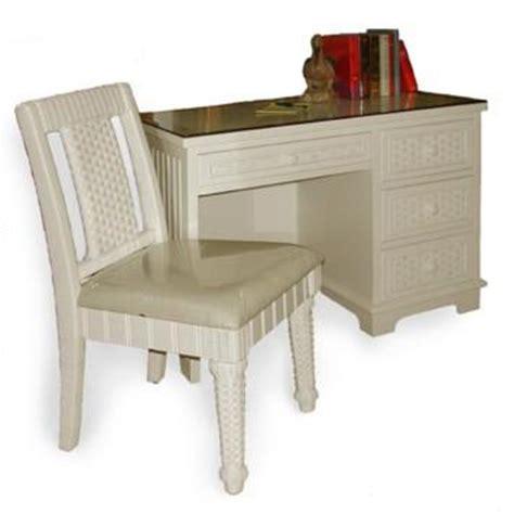 Wood Wicker Furniture Beadboard Furniture Cottage Wicker White Beadboard Desk