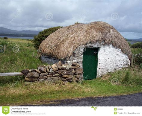 Sheds Donegal by Thatched Shed Donegal Ireland Royalty Free Stock Photos