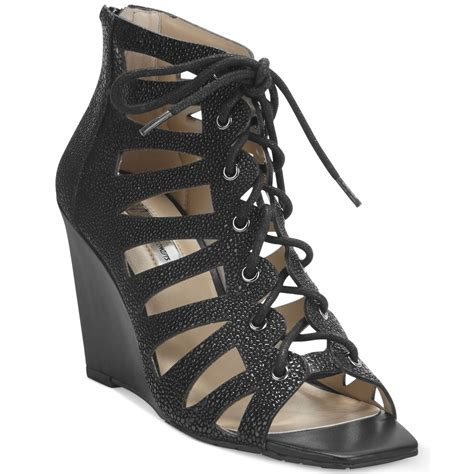 inc international concepts s silviah lace up wedge