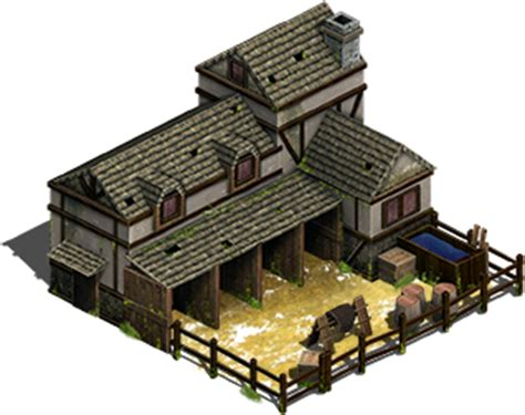 Japanese Design House medieval stable isometric 2 5d opengameart org