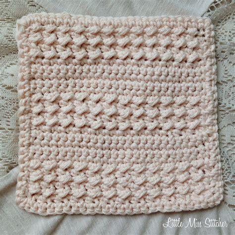 crochet pattern stitches pinterest little miss stitcher 5 free crochet dishcloth patterns