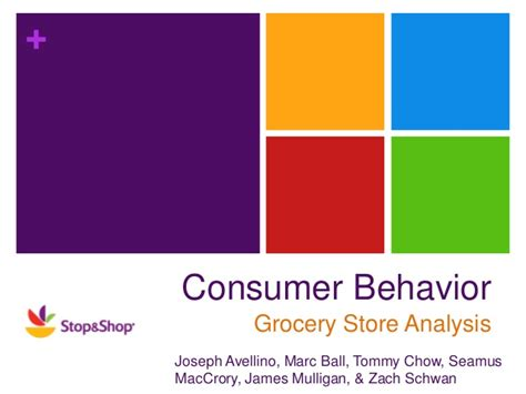 layout supermarket ppt consumer behavior grocery store analysis