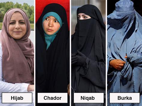 whats  difference   hijab chador niqab