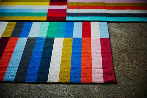 ikea halved rug kapitza colorful geometric art