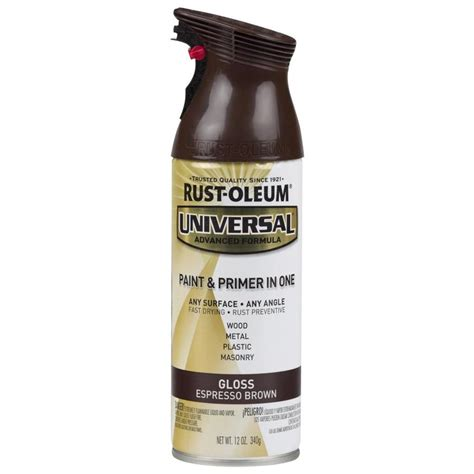 shop rust oleum 12 oz espresso brown gloss spray paint at lowes