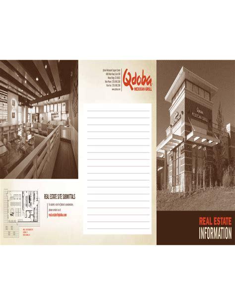 real estate prospectus template real estate brochure template free