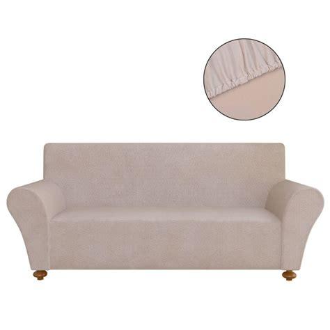 stretch couch vidaxl co uk vidaxl stretch couch slipcover beige