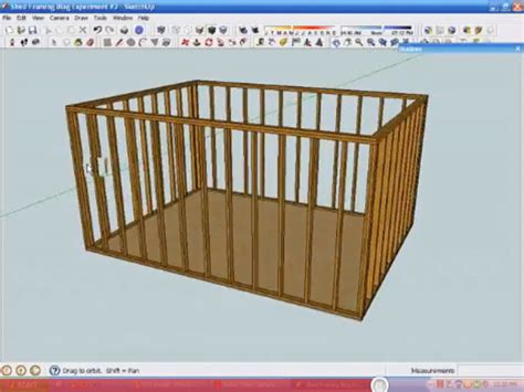 use sketchup to create a 3d framing model homebuilding
