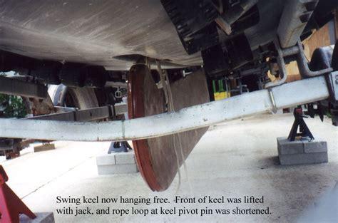 what is a swing keel c25 swing keel installation