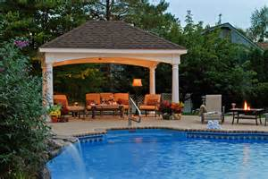Backyard Pool Gazebo Lovely Pool Gazebo 4 Back Yard Pavilion Designs