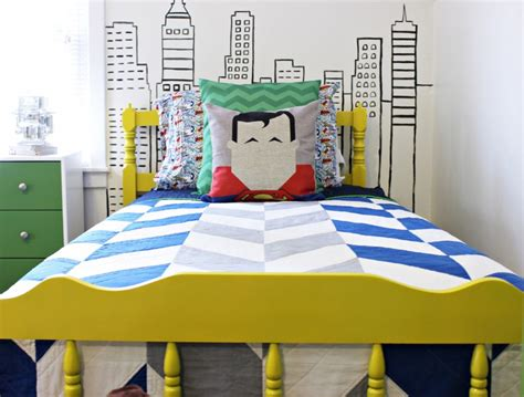 super hero bedroom modern superhero boys room