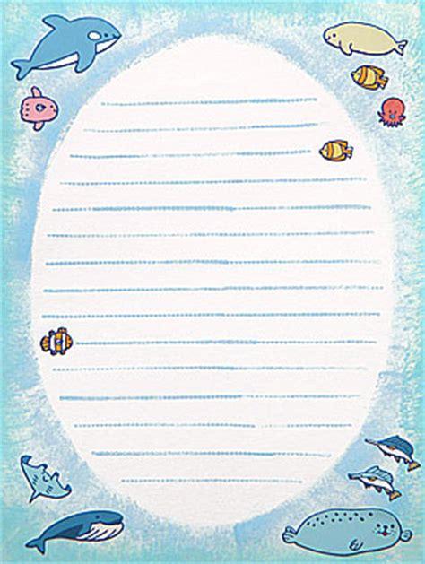 printable ocean stationery 8 best images of ocean writing paper printable printable