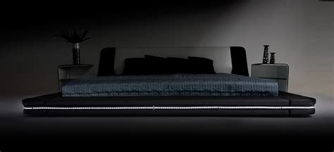 bed with lights marquee contemporary eco leather platform bed with led