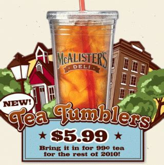 Mcalister S Deli Gift Card - 25 mcalister s deli gift card giveaway free tea day july 23rd closed