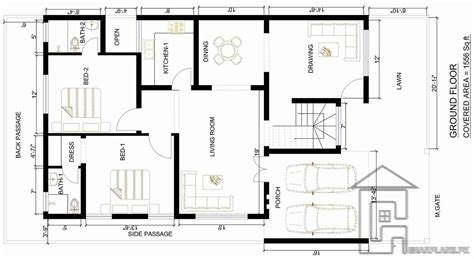 house map design 100 marla house plans civil engineers house plan for 23 by 45 plot plot size