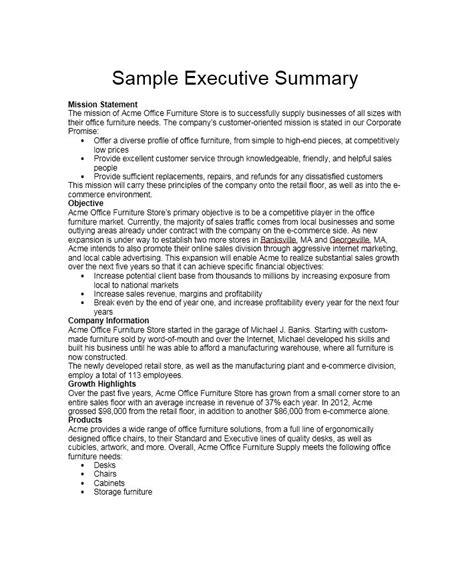writing an executive summary example kays makehauk co