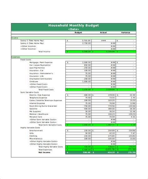 Excel Monthly Budget Template Simple Budget Template Excel