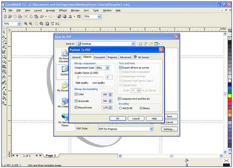 corel draw pdf export settings colordigit com 16 how to save a corel draw document to