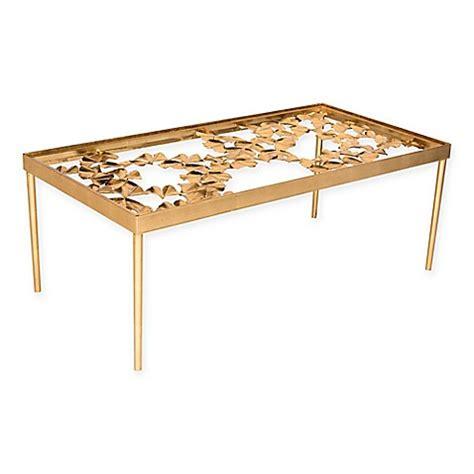 antique gold coffee table safavieh otto ginkgo leaf coffee table in antique gold