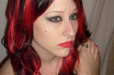 emo hairstyles with red highlights black hair with red highlights emo