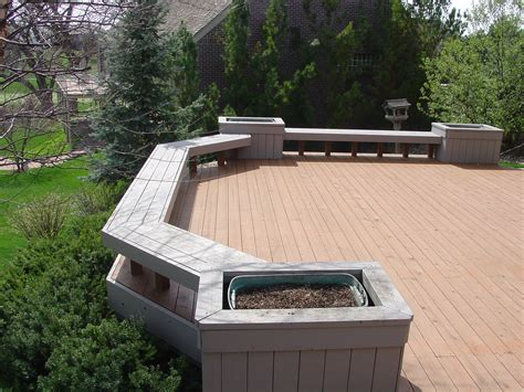 deck planter bench mike jansen custom cedar decks deck building services