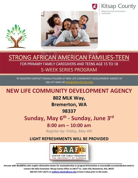 strong african american families teen kitsap county