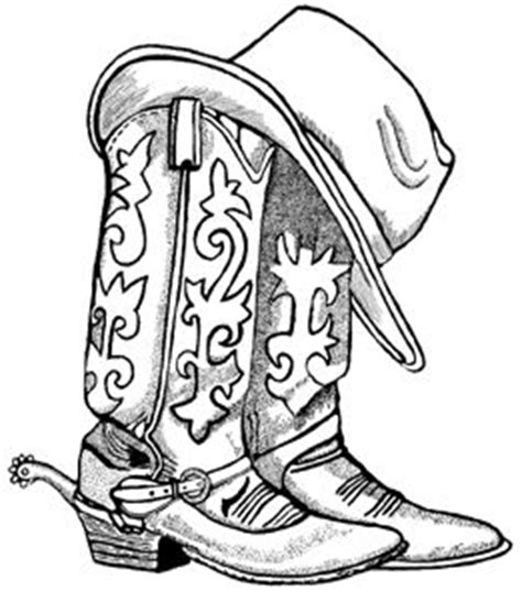 tattoo pen boots cowboy boots and hat unmounted rubber st downloads