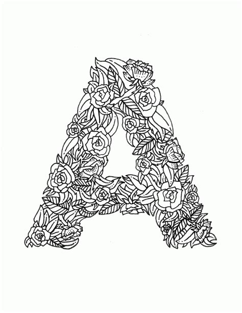 color with letter a coloring pages letters coloring home