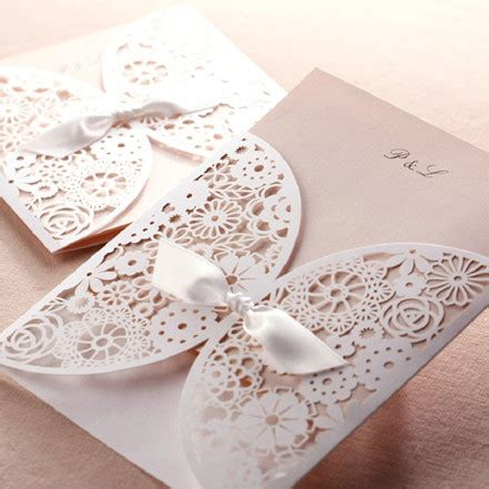 lace wedding invitations affordable laser cut blush pink lace wedding invitation ewws001 as low as 1 99
