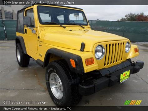 yellow jeep interior solar yellow 2000 jeep wrangler sport 4x4 agate