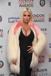 Jodie Marsh shows off her VERY ample cleavage at the